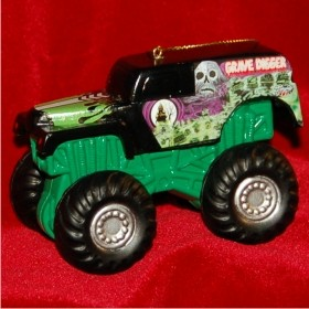 Grave Digger Monster Jam Truck Personalized Christmas Ornament
