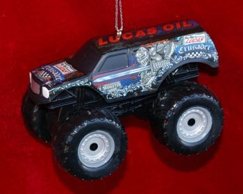 Lucas Crusader Monster Truck Christmas Ornament Personalized by Russell Rhodes