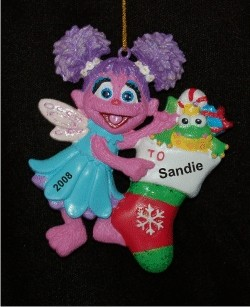 Sesame Street Abby Personalized Christmas Ornament