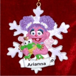 Abby in Winter Wonderland Personalized Christmas Ornament