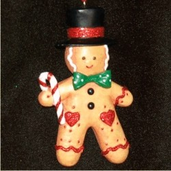 Gingerbread Boy Christmas Ornament Personalized by Russell Rhodes