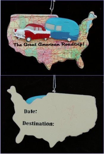 Great American Road Trip Christmas Ornament Personalized by Russell Rhodes