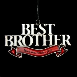 Best Brother Personalized Christmas Ornament