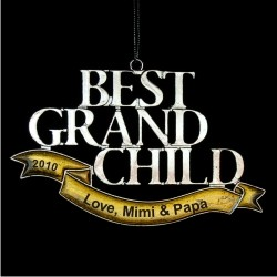 Best Grandchild Personalized Christmas Ornament