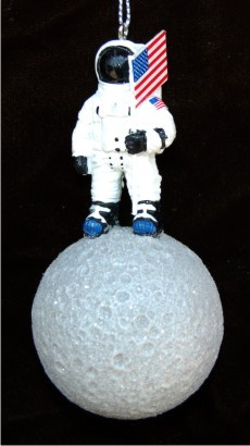 Astronaut on the Moon Christmas Ornament