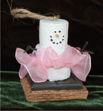S'Mores: Petit & Poised Ballerina Personalized Christmas Ornament