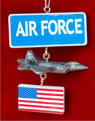 Air Force Christmas Ornament