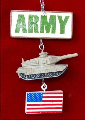 Army Christmas Ornament Personalized by Russell Rhodes