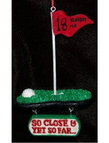 18th Tee Golf Personalized Christmas Ornament