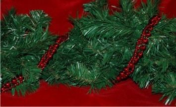 Christmas Red Twist Garland Christmas Ornament