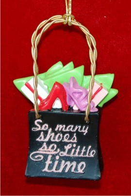 So Many Shoes Christmas Ornament Personalized by Russell Rhodes