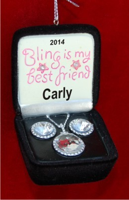 Bling A Girl's Best Friend Christmas Ornament