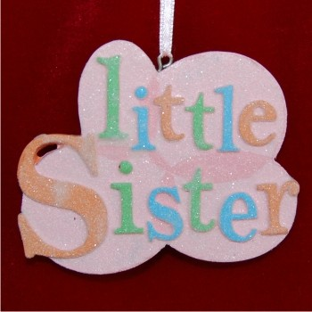 Little Sister Personalized Christmas Ornament