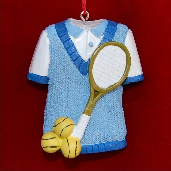 Ready for Tennis Personalized Christmas Ornament