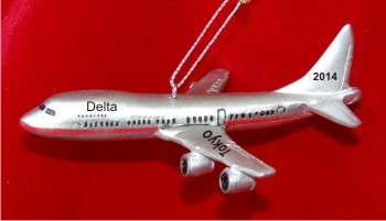 The Friendly Skies Airplane Christmas Ornament Personalized by Russell Rhodes