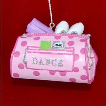 Dance Bag Christmas Ornament Personalized by Russell Rhodes
