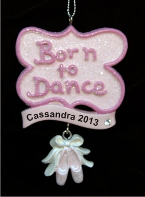 Born to Dance Personalized Christmas Ornament
