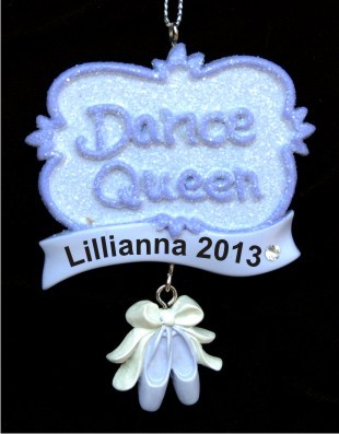 Dance Queen Personalized Christmas Ornament