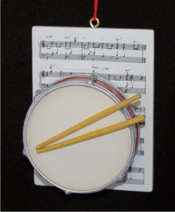 Drum with Musical Score Christmas Ornament