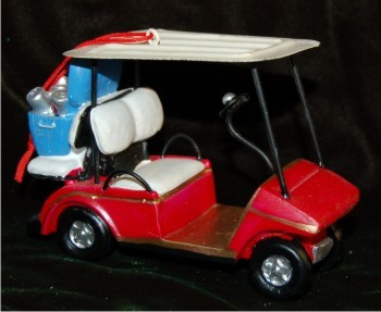 lovin the links chillin drinks golf cart christmas ornament