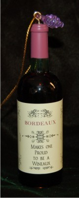 Bordeaux for Lovers of Fine Wine Christmas Ornament