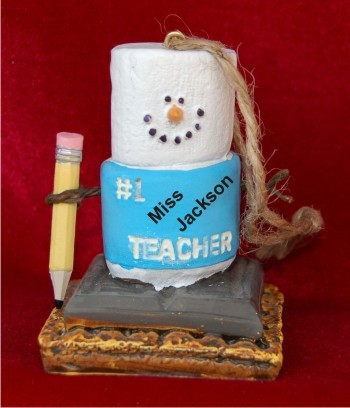 S'Mores #1 Teacher Personalized Christmas Ornament