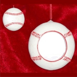 Baseball Champ Photo Frame Christmas Ornament