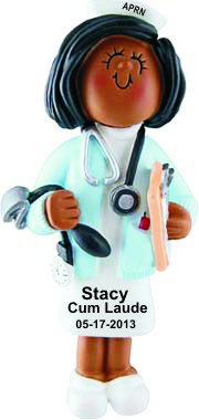 African American Nurse Practitioner Graduation Christmas Ornament