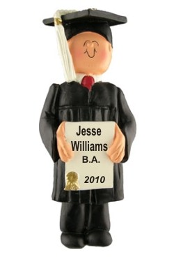 Graduation Male Personalized Christmas Ornament