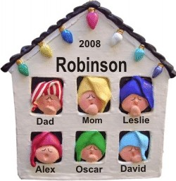 Christmas House for 6 Personalized Christmas Ornament