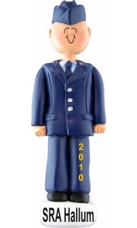 Air Force Male Christmas Ornament