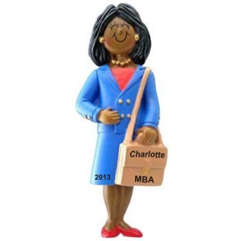 African American Woman Professional Graduation Christmas Ornament