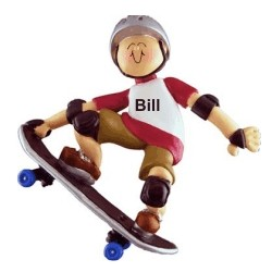 Skateboard Champ Christmas Ornament Personalized by Russell Rhodes