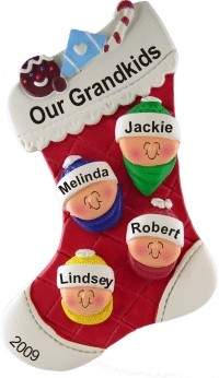 Christmas Stocking - Our Grandkids Christmas Ornament