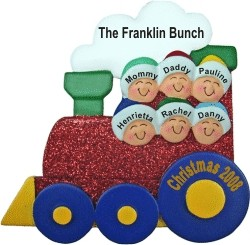 Christmas Train for 6 Personalized Christmas Ornament