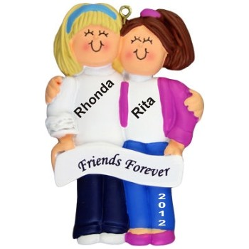 Blonde/Brunette, Friends Personalized Christmas Ornament