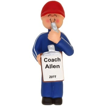 Coach Male Personalized Christmas Ornament