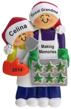Baking Cookies with Great Grandma 1 Child Christmas Ornament Personalized by Russell Rhodes