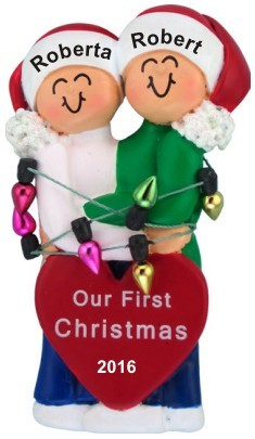 Couple's First Christmas Christmas Ornament Personalized by Russell Rhodes