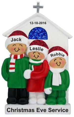 Just the Kids at Church Christmas Ornament Personalized by Russell Rhodes