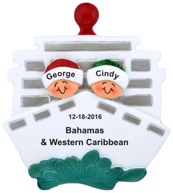 Cruisin' Couple Out to Sea Christmas Ornament