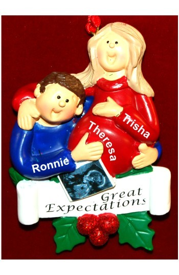 Special Delivery New Baby Blond Female Brunette Male Christmas Ornament Personalized by Russell Rhodes