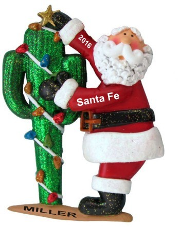 southwest cheer from santa christmas ornament - Southwest Christmas Decorations