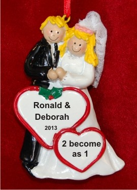 Our Wedding Both Blond Christmas Ornament