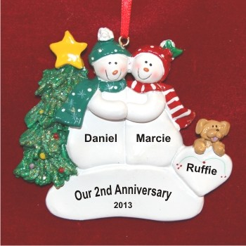 Our 2nd Anniversary or any number  Hand Personalized Christmas