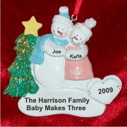 Expecting, So in Love Personalized Christmas Ornament