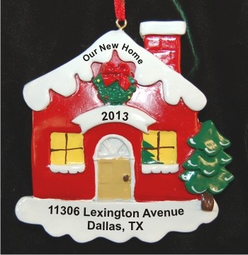 2c8724a6c4448 Christmas Cottage Welcome to Our New Home Christmas Ornament