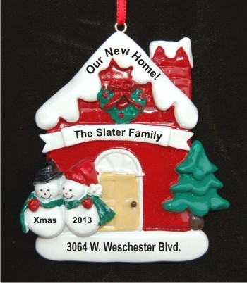 Winter Wonderland: Our New Home Personalized Christmas Ornament