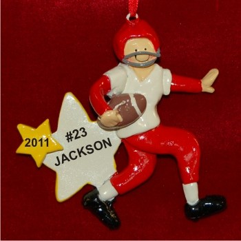 Boy Football Personalized Christmas Ornament