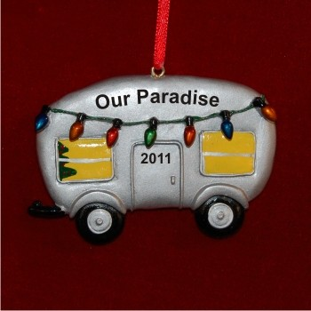 Holiday Camper Personalized Christmas Ornament